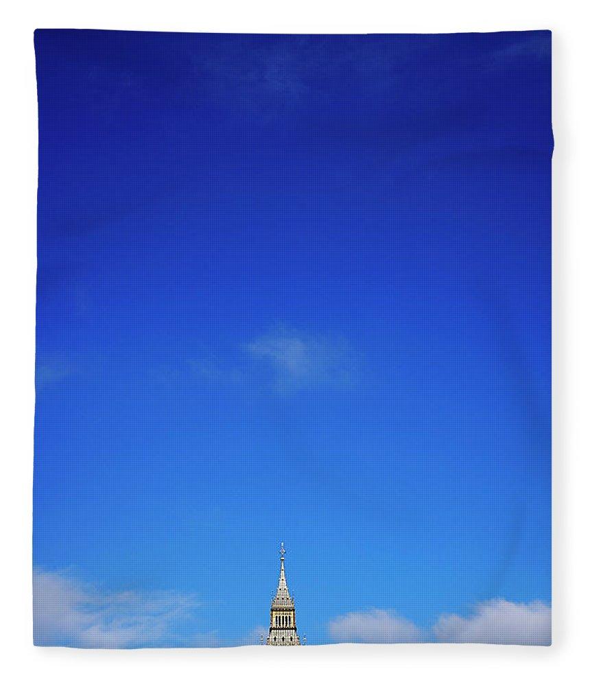 Clock Tower Fleece Blanket featuring the photograph Big Ben, Or Palace Of Westminster Clock by Dan Hallman