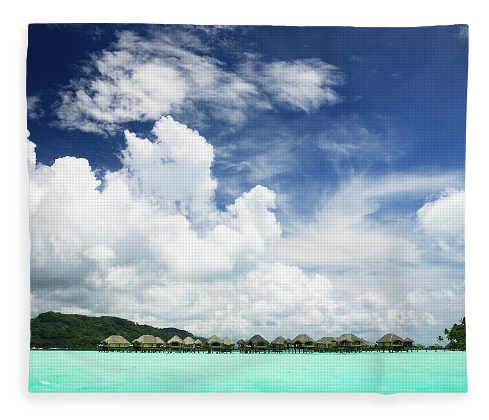 Standing Water Fleece Blanket featuring the photograph Blue Lagoon Holiday Luxury Resort by Mlenny