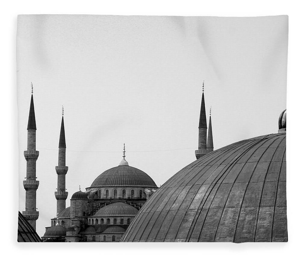Istanbul Fleece Blanket featuring the photograph Blue Mosque, Istanbul by Dave Lansley