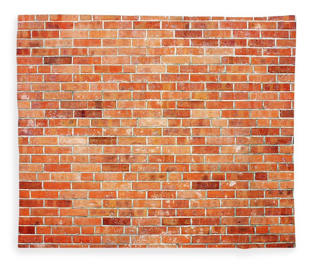 Toughness Fleece Blanket featuring the photograph Brick Wall by Ballyscanlon