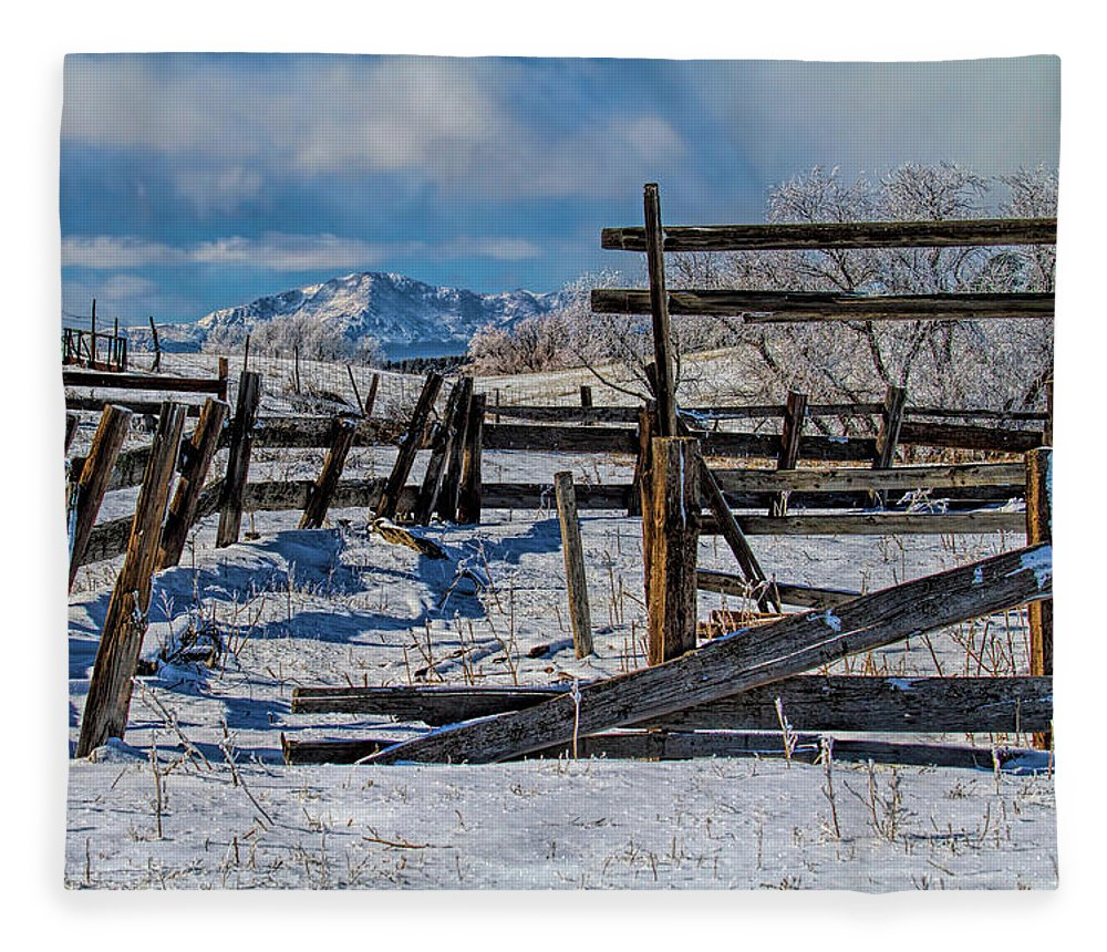 Corral Fleece Blanket featuring the photograph Broken Corral by Alana Thrower