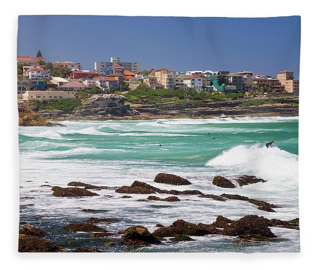 Suburb Fleece Blanket featuring the photograph Bronte, Sydney, Australia by Peter Adams