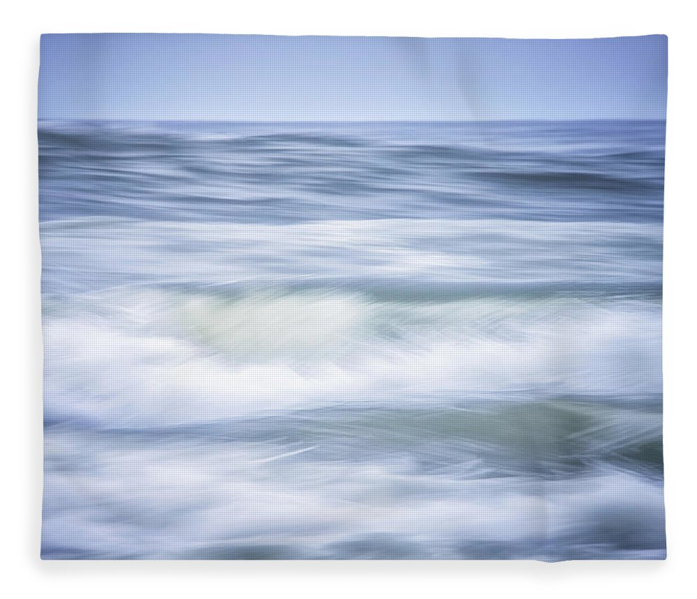 California Fleece Blanket featuring the photograph Brush Strokes Wave Art by Marnie Patchett