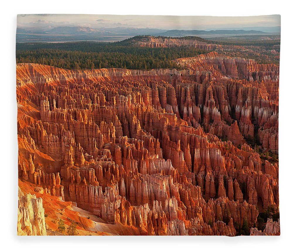 Tranquility Fleece Blanket featuring the photograph Bryce Canyon by Phil
