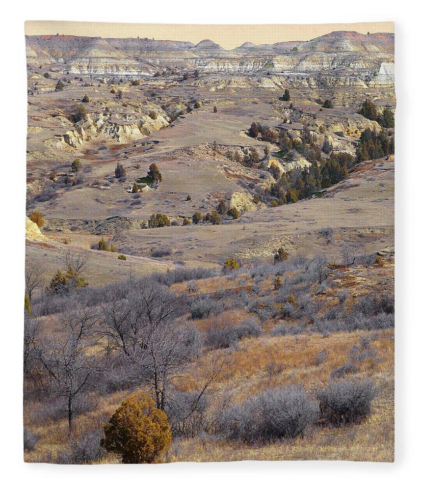 North Dakota Fleece Blanket featuring the photograph Burning Coal Vein April Reverie by Cris Fulton