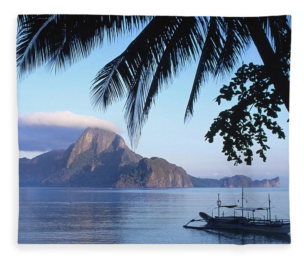 People Fleece Blanket featuring the photograph Cadlao Island From El Nido, Sunrise by Dallas Stribley