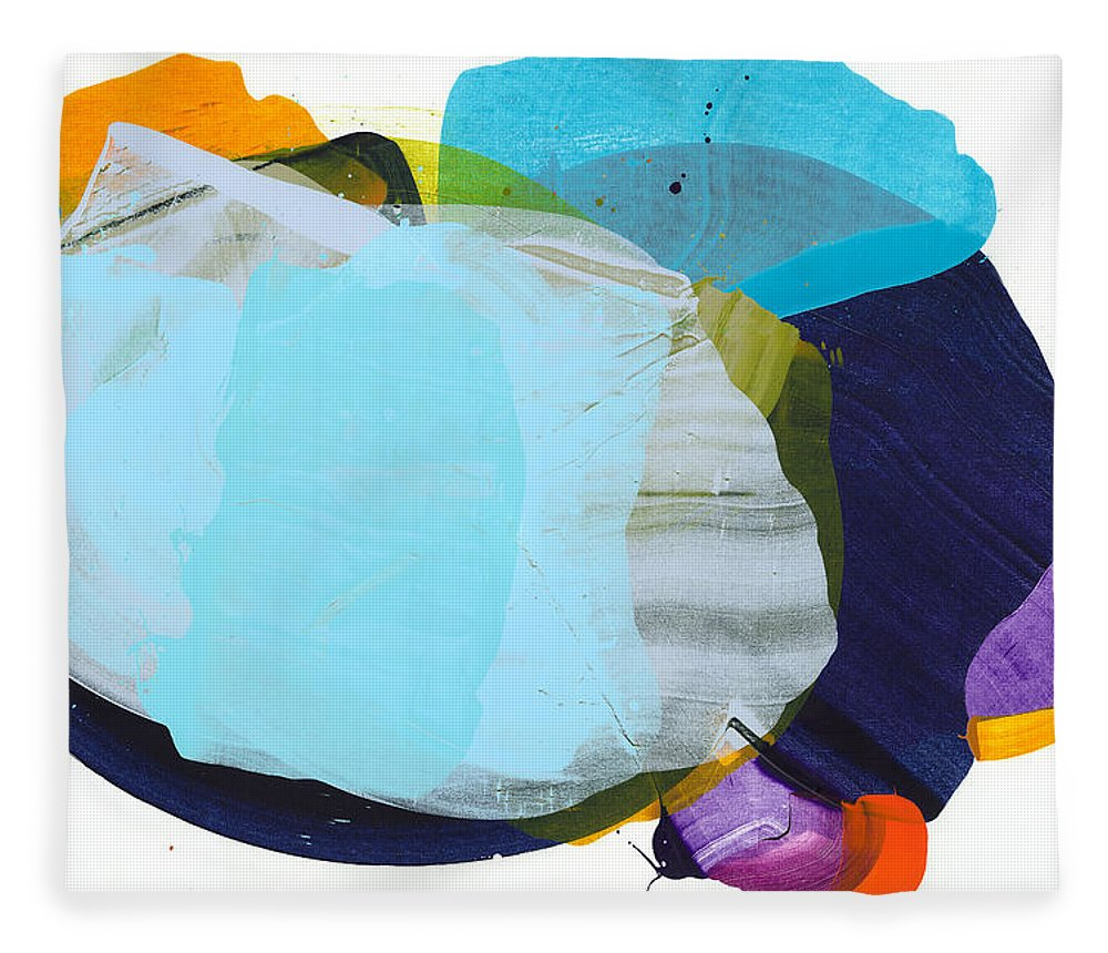 Abstract Fleece Blanket featuring the painting California 10 by Claire Desjardins