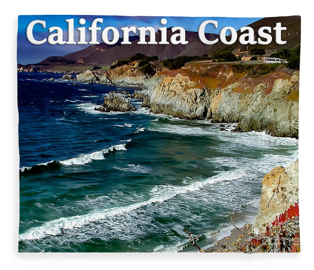 California Fleece Blanket featuring the photograph California Coast In Mendocino County by G Matthew Laughton