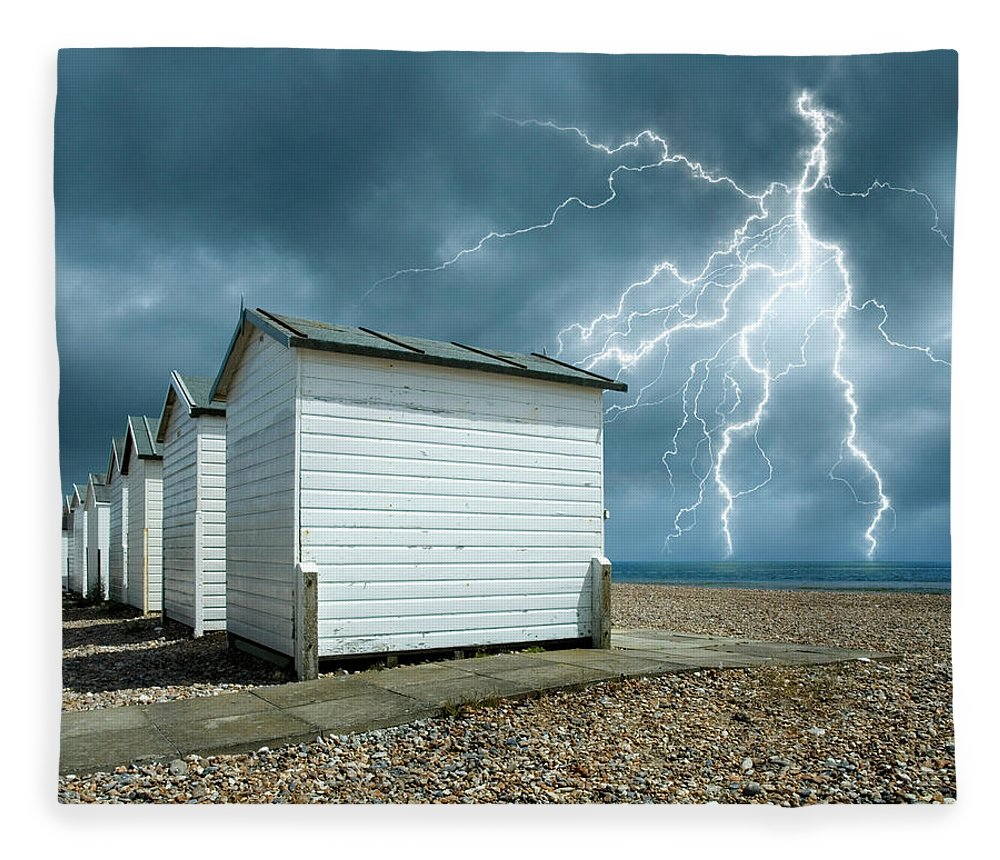 Water's Edge Fleece Blanket featuring the photograph Calm Before The Storm by Blackbeck