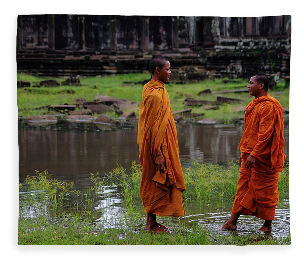Southeast Asia Fleece Blanket featuring the photograph Cambodia by Rawpixel