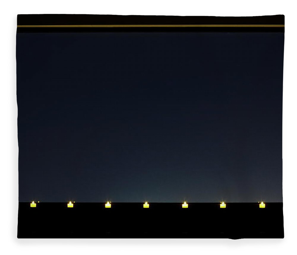 Empty Fleece Blanket featuring the photograph Candles In A Row By The Window by Sot
