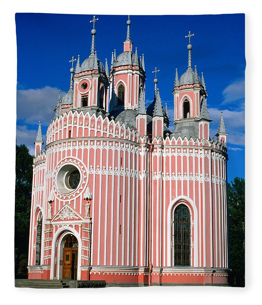Gothic Style Fleece Blanket featuring the photograph Candy Stripes Of Chesma Church, St by Lonely Planet