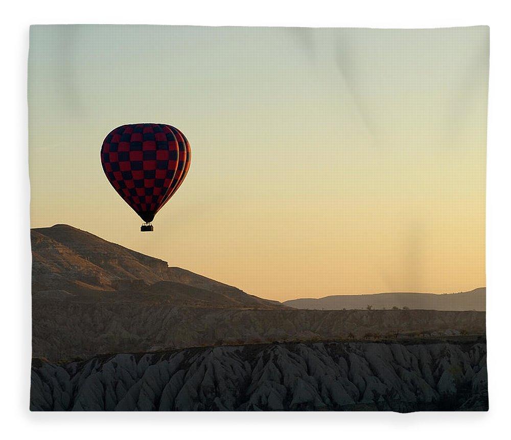 Scenics Fleece Blanket featuring the photograph Cappadocia Valley by Julian Kaesler