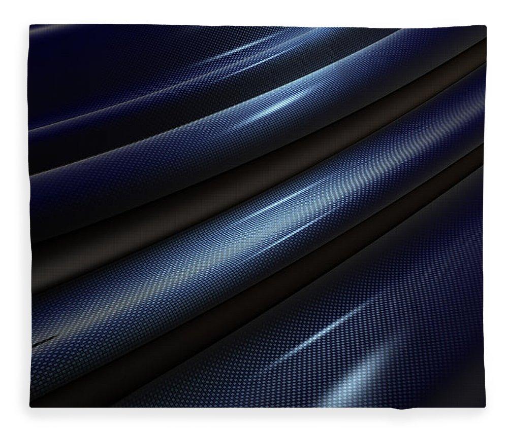 Material Fleece Blanket featuring the photograph Carbon Fiber by Ilexx