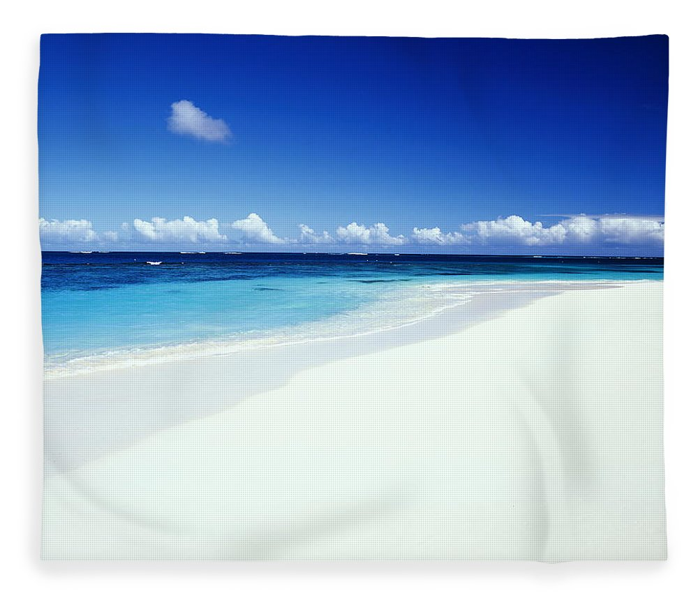 Scenics Fleece Blanket featuring the photograph Caribbean Anguilla Shoal Bay Beach by Buena Vista Images