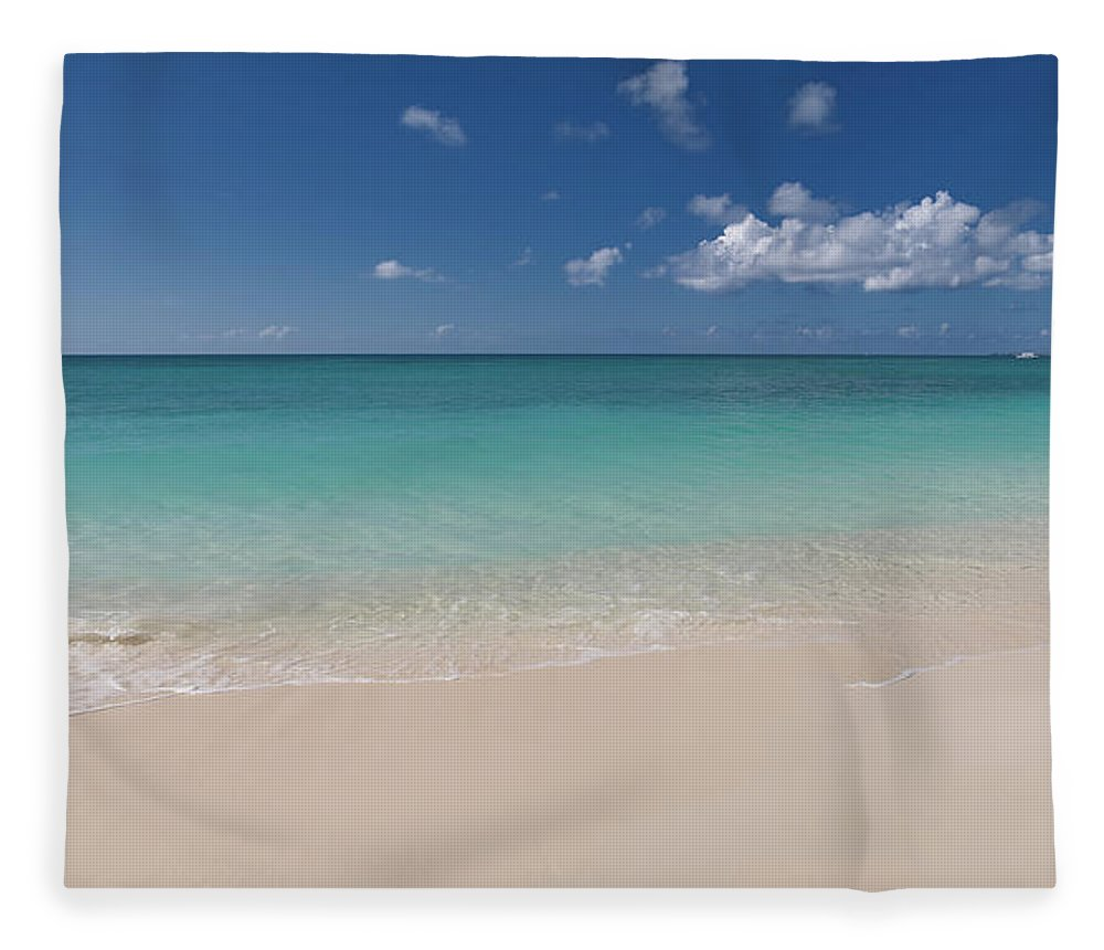 Cayman Islands Fleece Blanket featuring the photograph Caribbean Paradise - Beach by Dragansaponjic