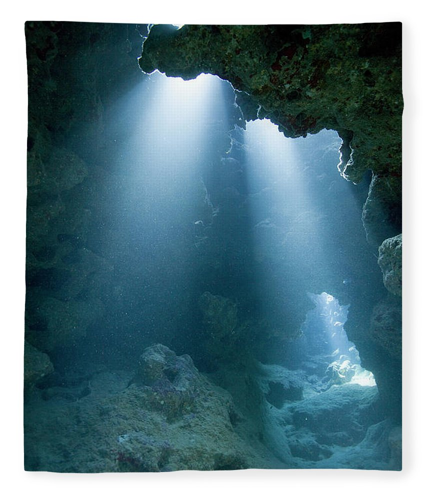 Underwater Fleece Blanket featuring the photograph Caribbean Sea, Cayman Islands, Grand by Paul Souders