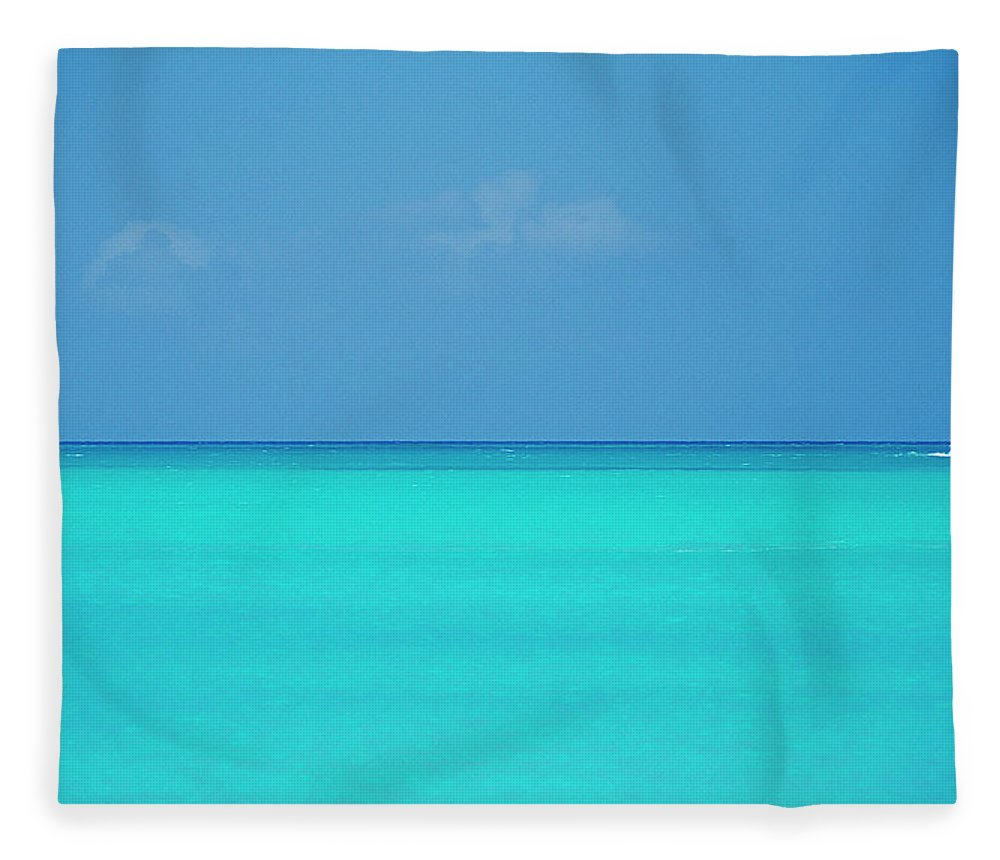Sailboat Fleece Blanket featuring the photograph Caribbean, Turks And Caicos Islands by Medioimages/photodisc