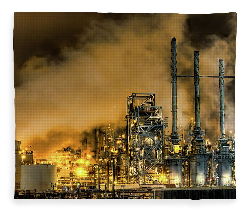 Air Pollution Fleece Blanket featuring the photograph Carson City by Chris Valle