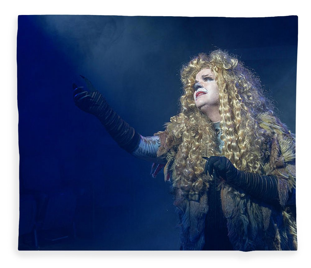 Broadway Fleece Blanket featuring the photograph CATS Publicity image by Alan D Smith