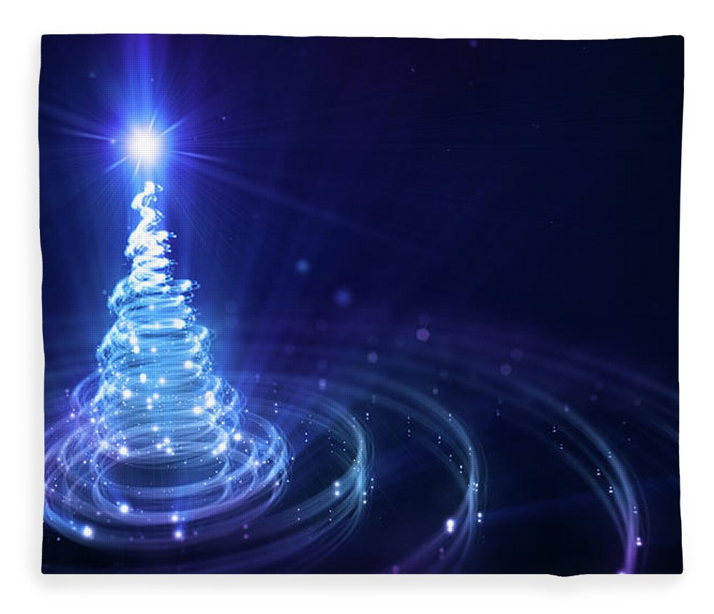 Particle Fleece Blanket featuring the digital art Christmas Background by Da-kuk