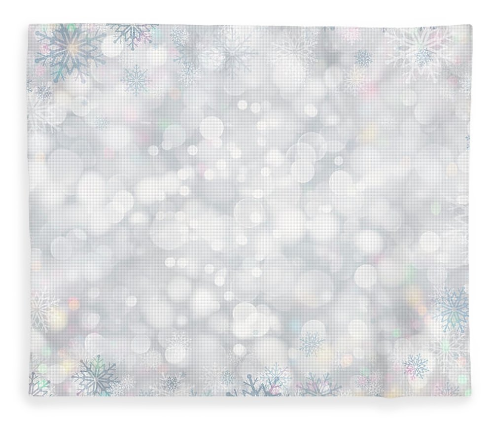 Holiday Fleece Blanket featuring the photograph Christmas Background by Sbayram