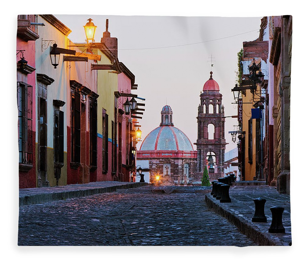 Latin America Fleece Blanket featuring the photograph Church Of San Francisco, Looking Up by Jeremy Woodhouse