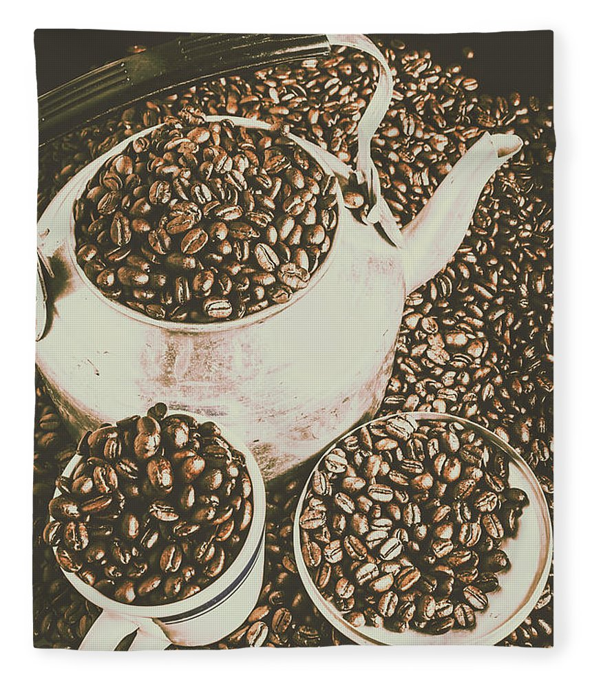 Restaurant Fleece Blanket featuring the photograph Classic Coffee by Jorgo Photography - Wall Art Gallery