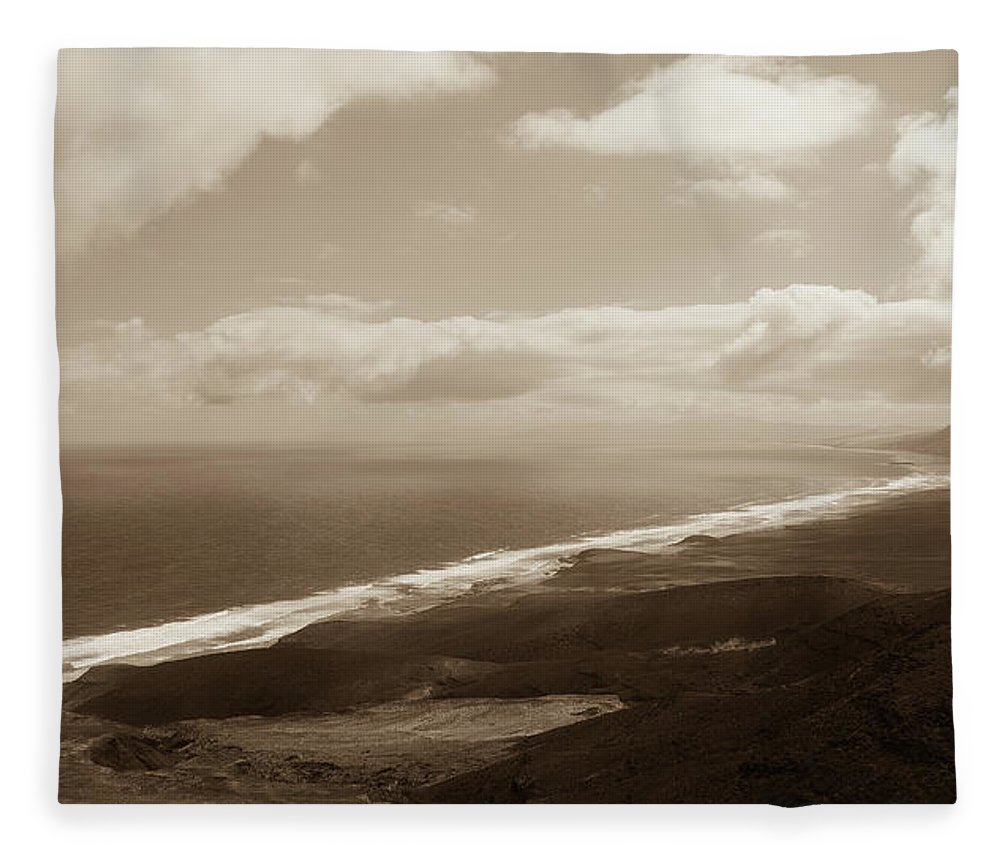 Landscape Fleece Blanket featuring the photograph Cofete Beach by Eliza Spatar