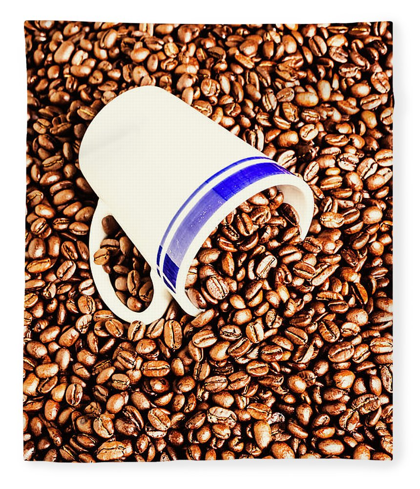 Drinks Fleece Blanket featuring the photograph Coffee Tips by Jorgo Photography - Wall Art Gallery