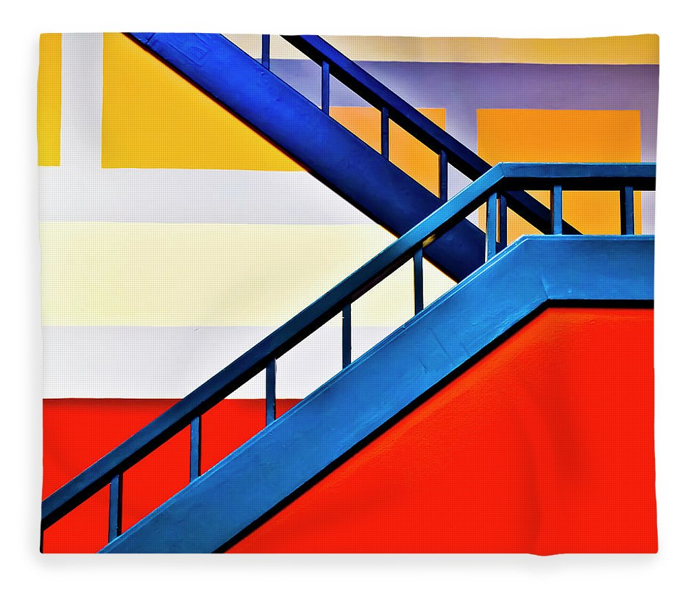 In A Row Fleece Blanket featuring the photograph Colorful Climb by By Wesbs