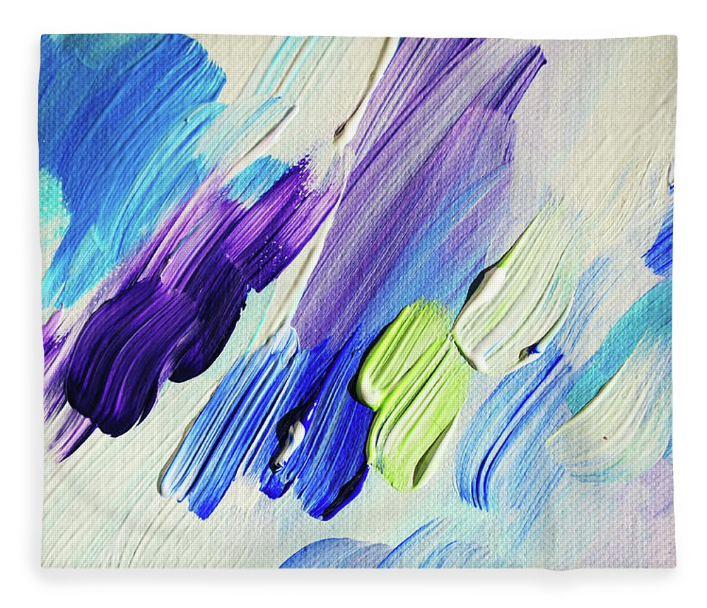 Jenny Rainbow Fine Art Photography Fleece Blanket featuring the photograph Colorful Rain Fragment 2. Abstract Painting by Jenny Rainbow