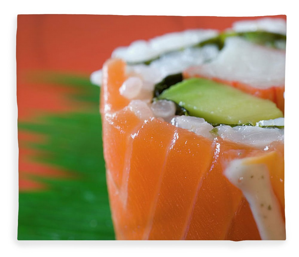 Asian And Indian Ethnicities Fleece Blanket featuring the photograph Colorful Sushi by Creativeye99