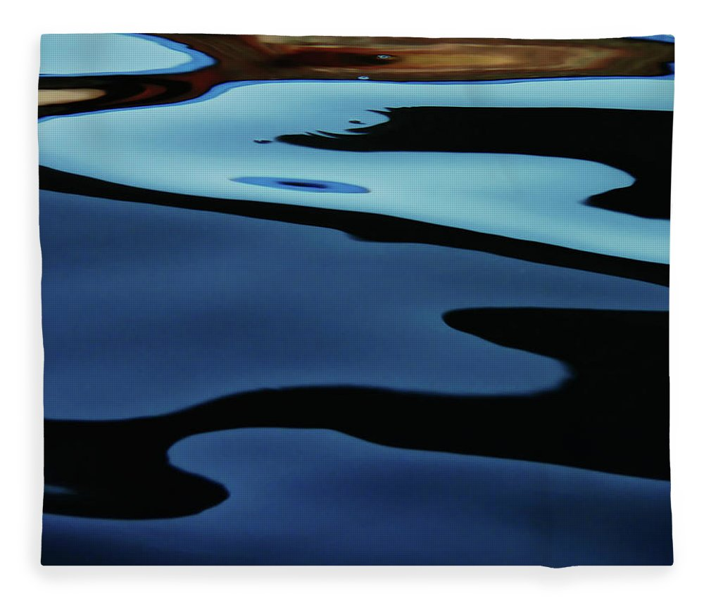 Scenics Fleece Blanket featuring the photograph Colorful Water Background Abstract by Lubilub