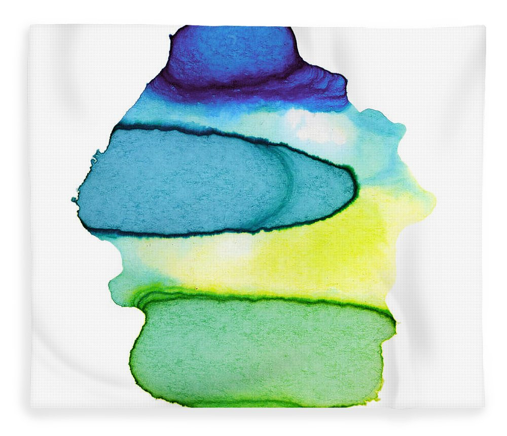 Watercolor Painting Fleece Blanket featuring the digital art Colorful Watercolor Paint Paper Texture by 4khz