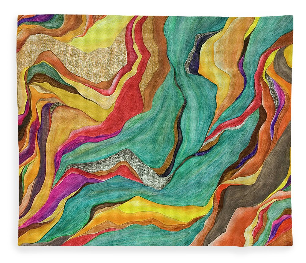 Art Fleece Blanket featuring the digital art Colors Of Humanity Series by Marthadavies