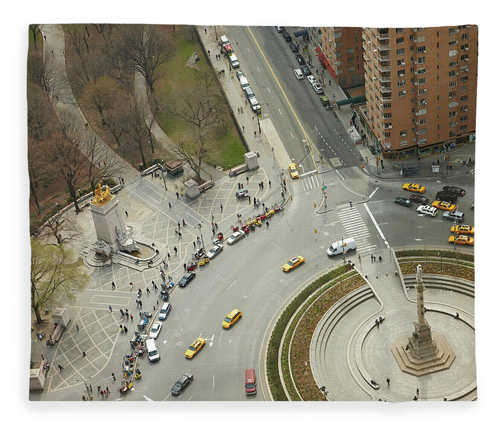 Apartment Fleece Blanket featuring the photograph Columbus Circle And Cenral Park by Andy Ryan