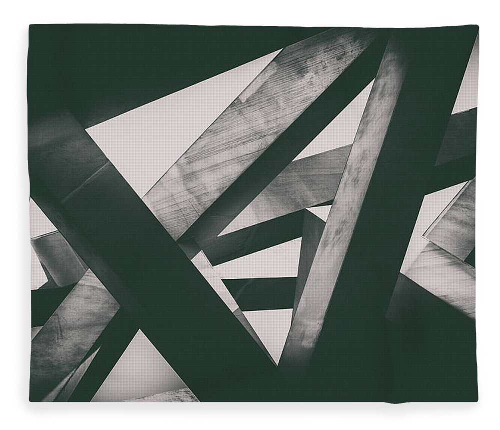 Shadow Fleece Blanket featuring the photograph Concrete Pillars by Lordrunar