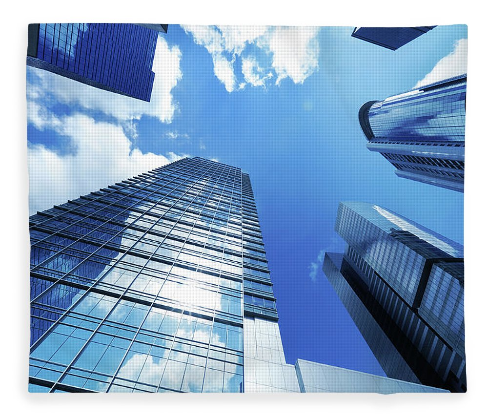 Corporate Business Fleece Blanket featuring the photograph Corporate Building by Samxmeg