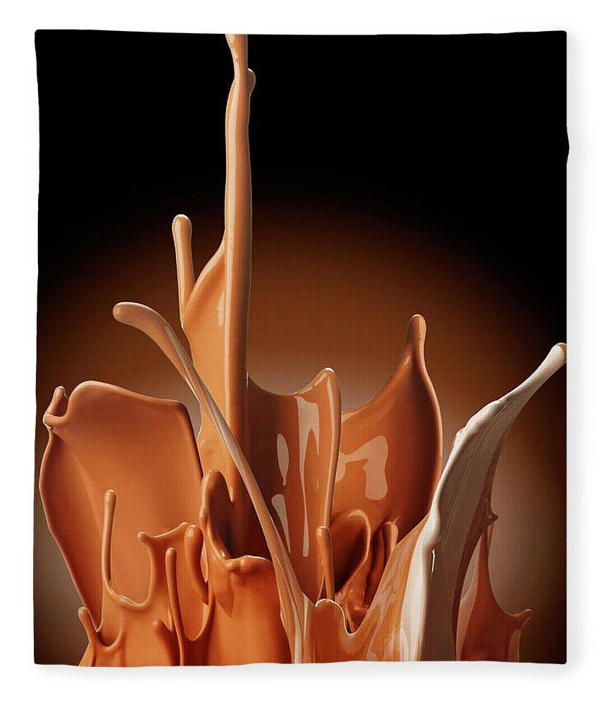 California Fleece Blanket featuring the photograph Creme Brulee Splash by Jack Andersen