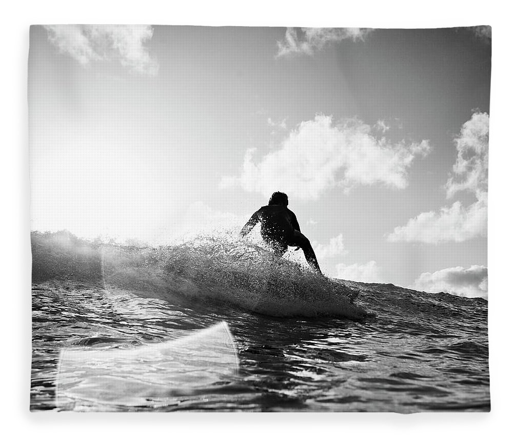 Three Quarter Length Fleece Blanket featuring the photograph Crouching by Mark Leary