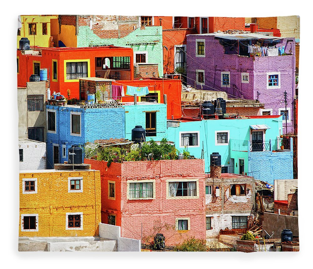 Stone Wall Fleece Blanket featuring the photograph Cultural Colonial Cities Of Mexico by Www.infinitahighway.com.br