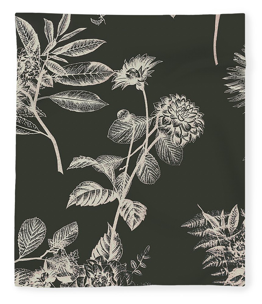Floral Fleece Blanket featuring the photograph Dark Botanics by Jorgo Photography - Wall Art Gallery