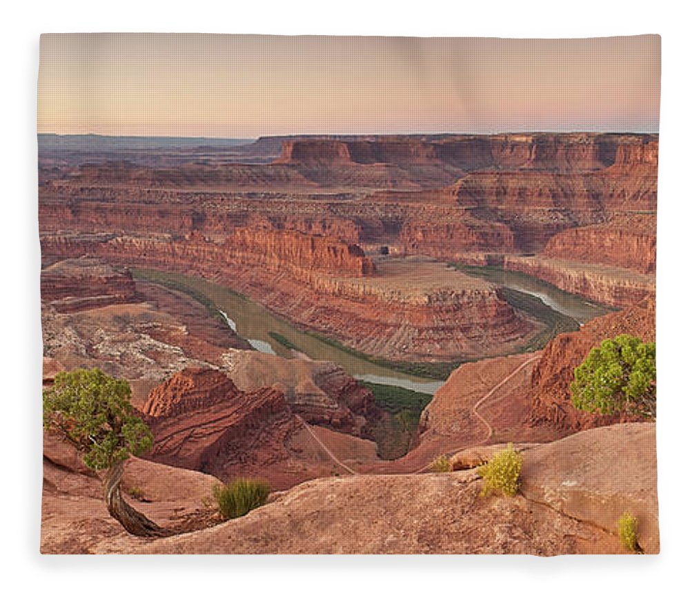 Scenics Fleece Blanket featuring the photograph Dead Horse Point State Park, Utah by Enrique R. Aguirre Aves