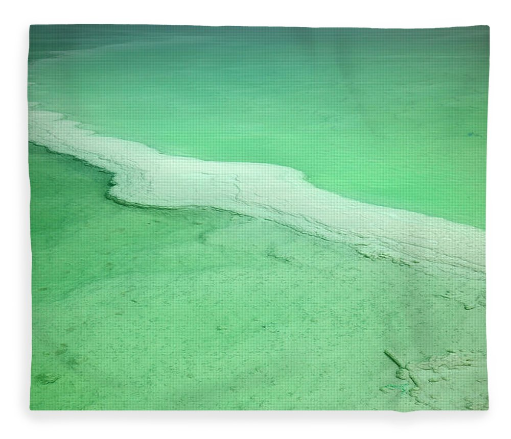 Mineral Fleece Blanket featuring the photograph Dead Sea Water Surface by Eldadcarin