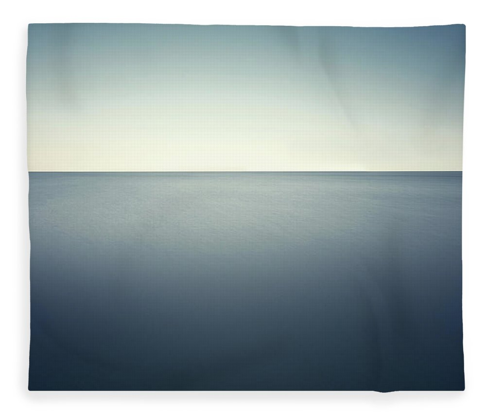 Scenics Fleece Blanket featuring the photograph Deep Blue Sea by Ppampicture