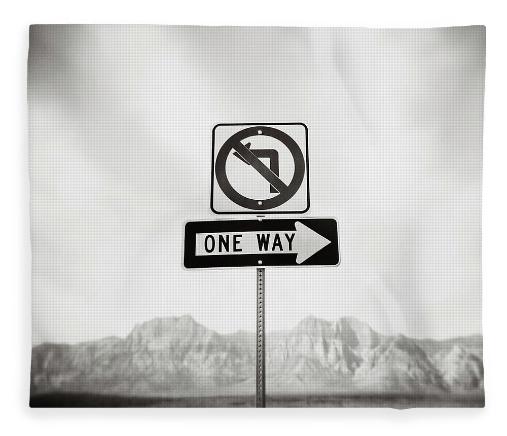 Non-urban Scene Fleece Blanket featuring the photograph Directional Signs by David Madison