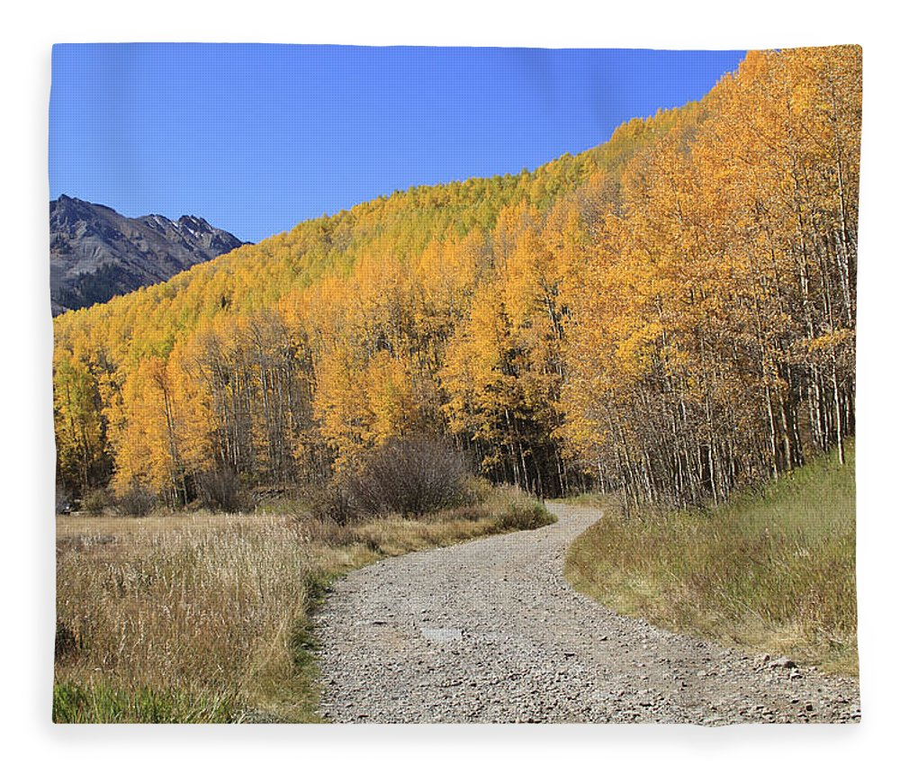 Scenics Fleece Blanket featuring the photograph Dirt Road In The Elk Mountains, Colorado by John Kieffer
