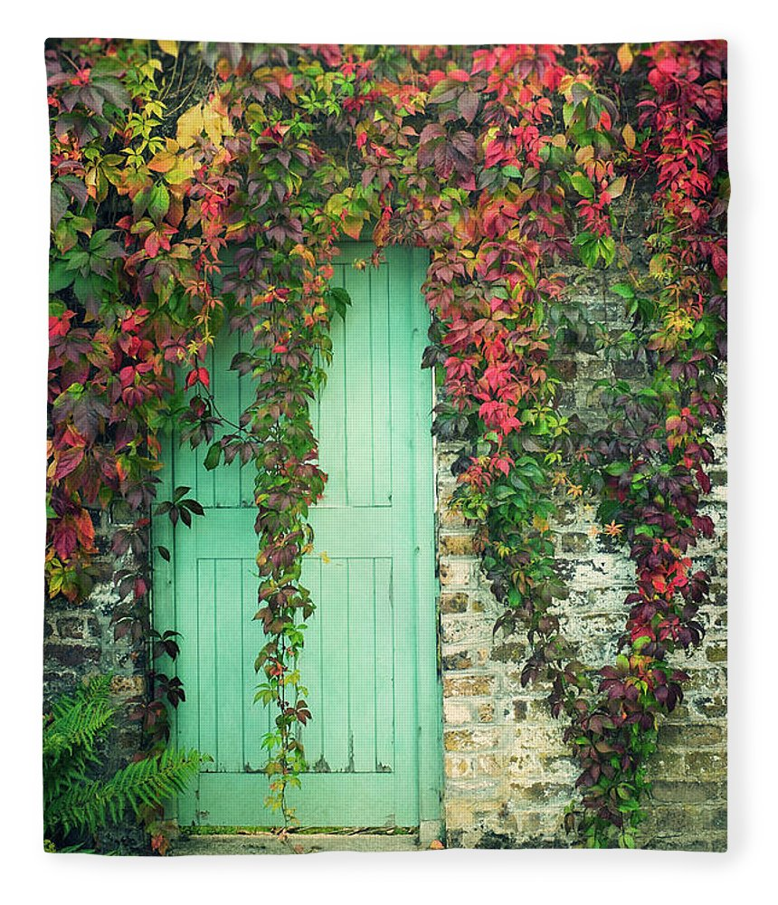 Tranquility Fleece Blanket featuring the photograph Door To The Secret Garden by Image By Catherine Macbride