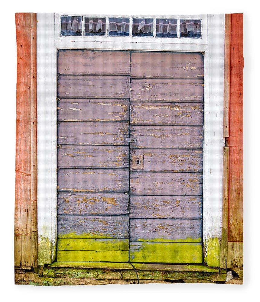 Hinge Fleece Blanket featuring the photograph Doorway by Reimphoto